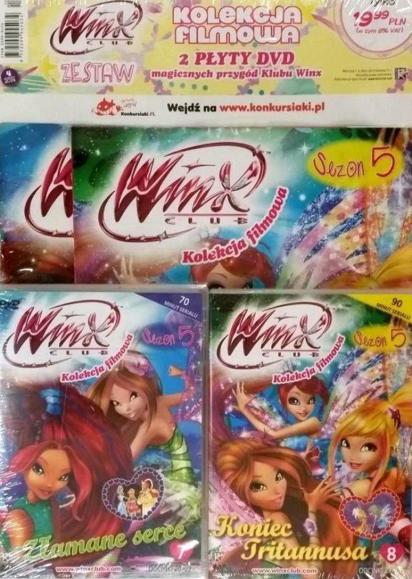 Winx Club Zestaw DVD 5.7 Złamane serce + 5.8 Koniec Tritannusa
