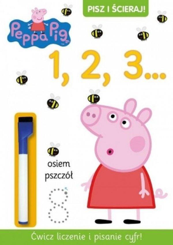 Świnka Peppa Pisz i ścieraj! 1 1, 2, 3...