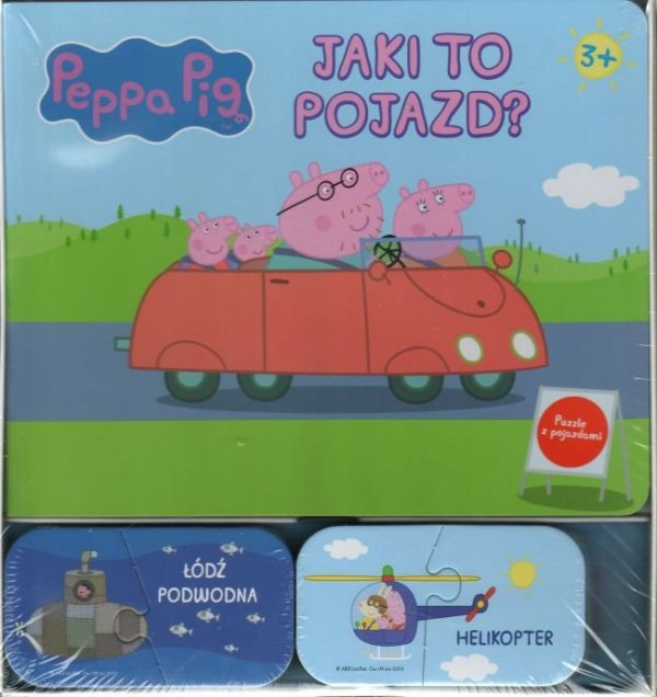 Świnka Peppa Jaki to pojazd? (16 puzzli z pojazdami)