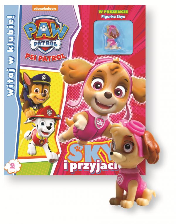 Psi Patrol Witaj w klubie 2 Skye i przyjaciele (z figurką)