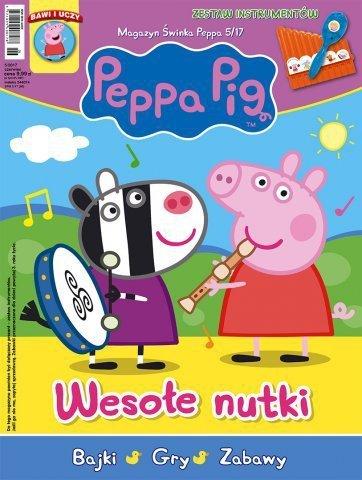 Świnka Peppa magazyn 5/2017 Wesołe nutki + zestaw instrumentów