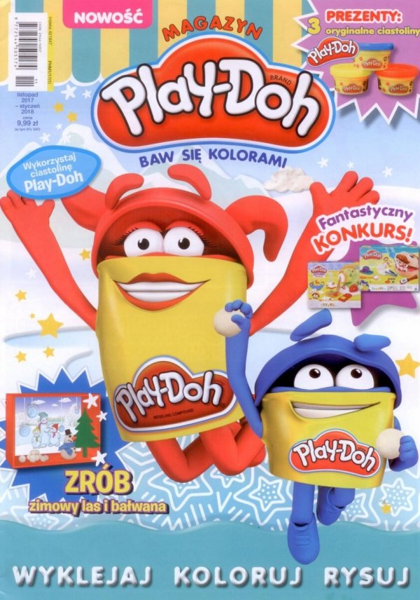 Play-Doh magazyn 1/2017 + 3 ciastoliny