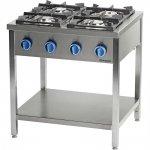 Kuchnia gazowa wolnostojąca 900 - 4 palnikowa z półką 24kW - G20 (GZ50)