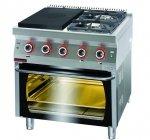Kuchnia gazowa z płytą grzewczą z piekarnikiem gazowym 800x700x900 mm KROMET 700.KG-2/I-400/PG-2 700.KG-2/I-400/PG-2