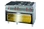Kuchnia gazowa z płytą grzewczą z piekarnikiem elektrycznym moduł 3xGN 1/1 1200x700x900 mm KROMET 700.KG-4/I-400/PE-3 700.KG-4/I-400/PE-3