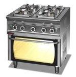 Kuchnia gazowa z piekarnikiem gazowym  800x700x900 mm KROMET 000.KG-4s/PG-2 000.KG-4s/PG-2
