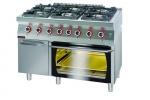 Kuchnia gazowa z piekarnikiem elektrycznym moduł  3xGN 1/1 1200x700x900 mm KROMET 700.KG-6/PE-3 700.KG-6/PE-3