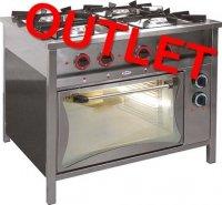 OUTLET | Trzon gazowy 4-palnikowy + piekarnik elektryczny 4 x GN 1/1 230 V TG 4725/PKE-1 EGAZ TG-4725/PKE-1 TG 4725 PKE 1