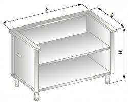Stanowisko szafkowe pod urządzenia zewnętrzne 750x800x900 ERIK DM-94515-E