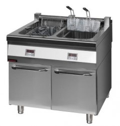 Frytownica elektryczna z szafką  900x900x900 mm KROMET 900.FE-2x18f 900.FE-2x18f