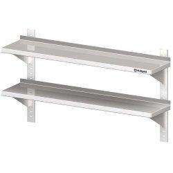 Półka wisząca, przestawna,podwójna 1200x300x660 mm STALGAST 610020 610020