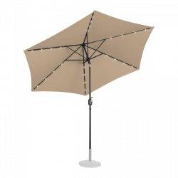 Parasol ogrodowy stojący - Ø300 cm - beżowy - LED UNIPRODO 10250123 UNI_UMBRELLA_TR300TAL