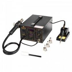 Stacja lutownicza - 60W - 2 x LED - uchwyt - Basic STAMOS 10021019 S-LS-11 Basic