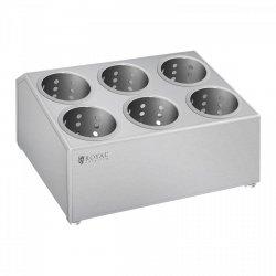Pojemnik na sztućce - 6 wkładów - stal szlachetna ROYAL CATERING 10010860 RCCH-1H6C