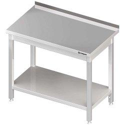 Stół przyścienny z półką 1200x700x850 mm skręcany STALGAST 611327 611327