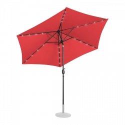 Parasol ogrodowy stojący - Ø300 cm - czerwony - LED UNIPRODO 10250125 UNI_UMBRELLA_TR300REL