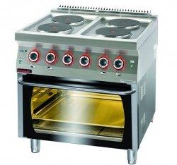 Kuchnia elektryczna z piekarnikiem elektrycznym  800x700x900 mm KROMET 700.KE-4/PE-1* 700.KE-4/PE-1*