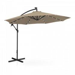 Parasol ogrodowy wiszący - Ø300 cm - beżowy - LED UNIPRODO 10250083 UNI_UMBRELLA_R300TAL