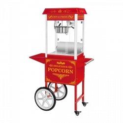 Maszyna do popcornu - wózek - czerwona ROYAL CATERING 10010537 RCPW.16.2