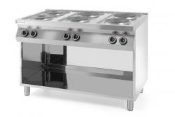 Kuchnia elektryczna 6-płytowa Kitchen Line na podstawie otwartej HENDI 226230 226230