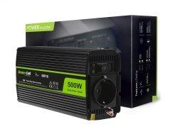Przetwornica Green Cell® 12V na 230V Czysta sinusoida 500W GREEN CELL INV16