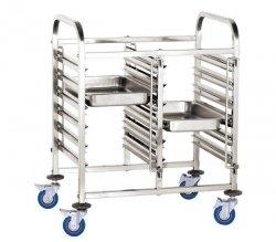 Wózek do transportu pojemników - podwójny 12x GN 1/1 HENDI 810569 810569