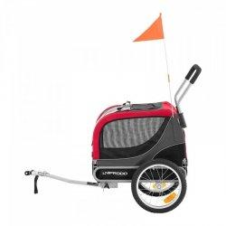 Przyczepka rowerowa dla psa - 20 kg - odblaski - plandeka UNIPRODO 10250520 UNI_TRAILER_18