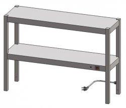 Nadstawka grzewcza dwupoziomowa ENG 20 o wymiarach 1100X400 EGAZ ENG-20-1100X400X600 ENG 20 1100X400X600