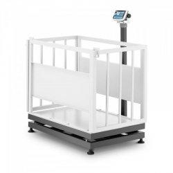 Waga inwentarska - skalibrowana - 500 kg/200 g - klatka dla zwierząt - LCD TEM 10200114 AEK+C070X1100500