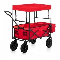 Wózek ogrodowy składany - 100 kg - czerwony UNIPRODO 10250187 UNI_CART_01