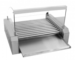 Grill rolkowy 11 rolek ze stali nierdzewnej z szybką COOKPRO 500010013 500010013