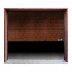 Brama garażowa - segmentowa - 3000 x 2125 mm - czarny orzech MSW 10060211 GD3000 black walnut