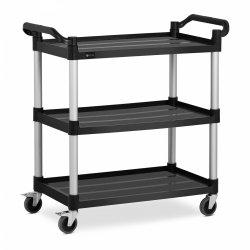 Wózek kelnerski - 3 półki - 90 kg - czarny ROYAL CATERING 10011718 RC-PSTB31020