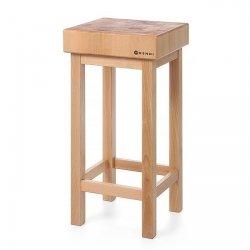 Kloc masarski drewniany na podstawie drewnianej HENDI 505694 505694