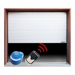 Brama garażowa z napędem - segmentowa - 3000 x 2125 mm - biała - łańcuch MSW 10060216 GD3000-S white
