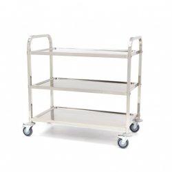 Wózek do serwowania ze stali nierdzewnej Maxima 3 MAXIMA 09300546