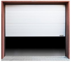 Segmentowa brama garażowa - 3000 x 2125 mm - biała MSW 10060028 GD3000-0