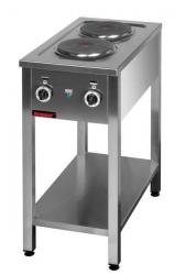 Kuchnia elektryczna na podstawie otwartej 2-płytowa  400x700x850 mm