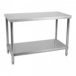Stół roboczy ze stali nierdzewnej - 120 x 70 cm  ROYAL CATERING 10011094 RCAT-120/70-NW