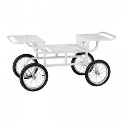 Wózek do waty cukrowej - 2 półki ROYAL CATERING 10010553 RCZT-01W