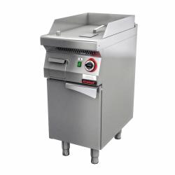 Płyta grillowa gazowa gładka chromowana 400 mm 5,5kW na podstawie szafkowej zamkniętej  KROMET 700.PBG-400G LINIA 700