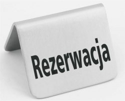 Tabliczka informacyjna - rezerwacja HENDI 663714 663714