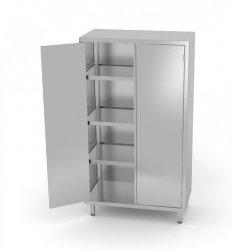 Szafa magazynowa z drzwiami na zawiasach 700 x 500 x 2000 mm POLGAST 304075-2 304075-2