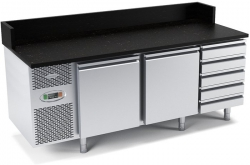 Stół chłodniczy do przygotowywania pizzy o pojemności 2x150l 1975x800x840/1000 DM-94049 DORA METAL DM-94049 DM-94049