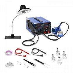 Stacja lutownicza - 3 w 1 - USB - lampa powiększająca STAMOS 10021007 S-LS-22
