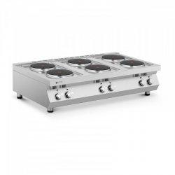 Kuchenka elektryczna - 6 palników - 6 x 2600 W ROYAL CATERING 10011759 RC-ECP6T