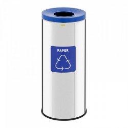 Kosz do segregacji śmieci - 45 l - kolor chromu - papier ULSONIX 10050291 ULX-GB6