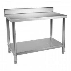 Stół roboczy ze stali nierdzewnej - rant - 100 x 60 cm  ROYAL CATERING 10011090 RCAT-100/60-N
