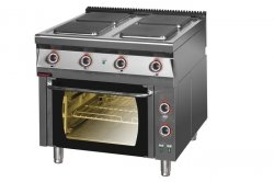 Kuchnia elektryczna z piekarnikiem elektrycznym z termoobiegiem 900x900x900 mm KROMET MAR.900.KE-4/PE-1T* MAR.900.KE-4/PE-1T*