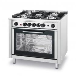 Kuchnia gazowa 5-palnikowa Kitchen Line z konwekcyjnym piekarnikiem elektrycznym i grillem HENDI 225707 225707